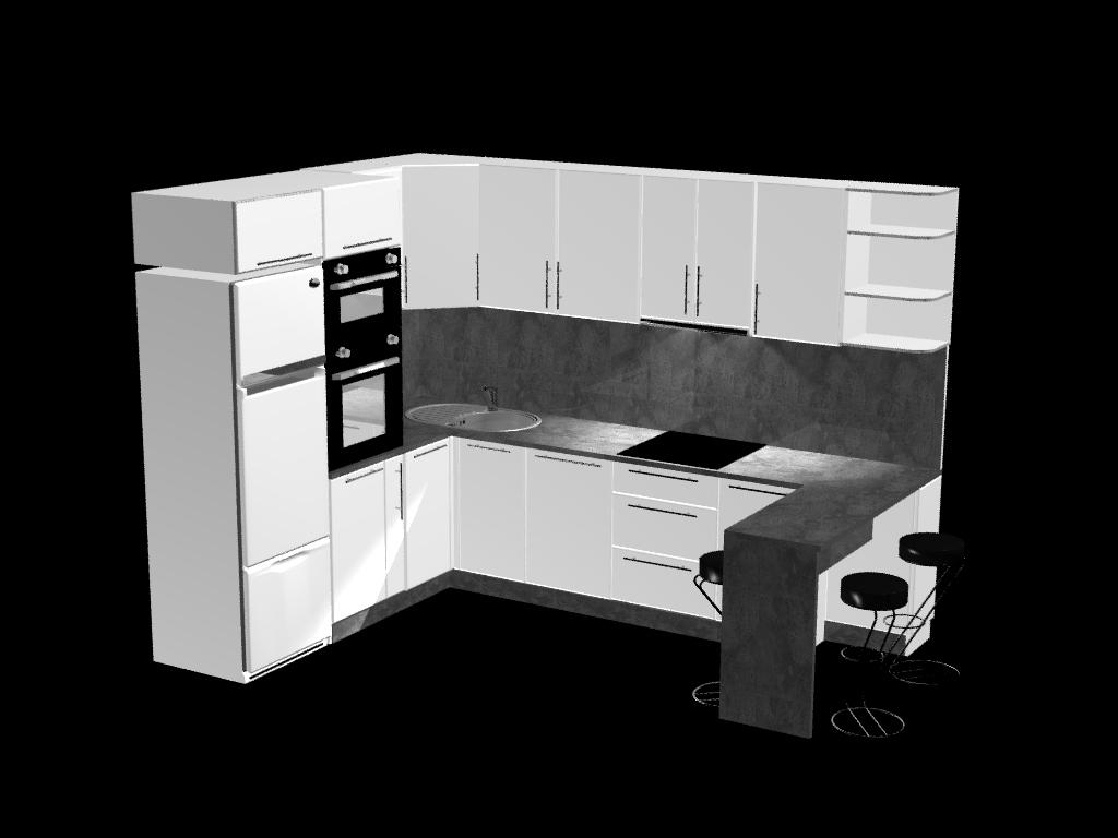U-kujuline köök hinnanäidis